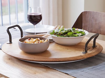 Provence Platters: Rotating Wine Cask Serving Platter