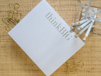 Black Ink: Specialty Notepad Stationery