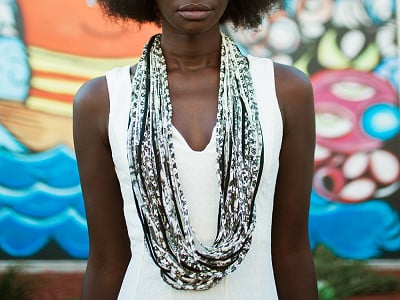 Dona Bela Shreds: Upcycled Fabric Scarf