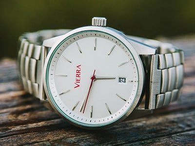 Vierra: Men's Minimalist Watch - Metal