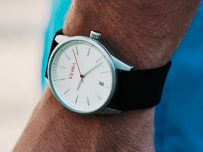 Vierra: Men's Minimalist Watch - Silicone