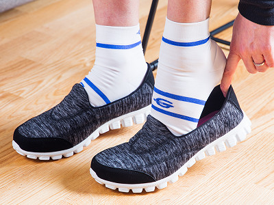 FootGlove: Padded Compression Ankle Sock