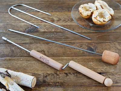 Wolf'em Stick: Biscuit Cup Roaster