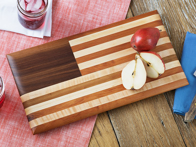 Brooklyn Butcher Blocks: American Flag Cutting Board