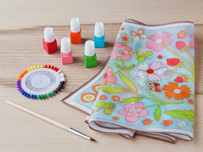 Djeco: DIY Silk Scarf Painting Kit