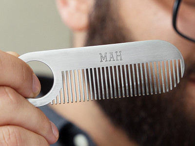 Chicago Comb Co.: Model No. 2 Stainless Steel Comb