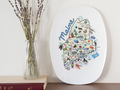 Fish Kiss: State Map Serving Platter