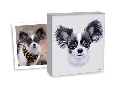 My Pooch Face: Hand-Painted Custom Pet Portrait