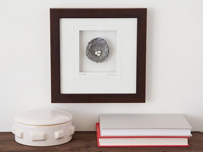 Cynthia Webb Designs: Framed Pewter Bird's Nest