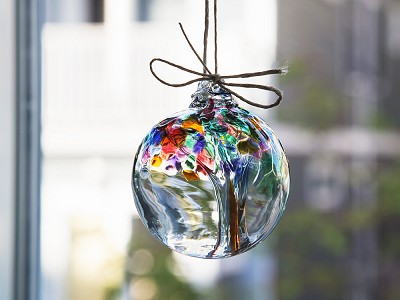 Kitras Art Glass: Tree of Enchantment Ornament