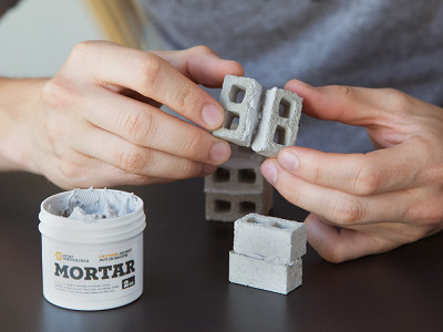Mini Materials: 1:12 Scale Mini Cinder Blocks