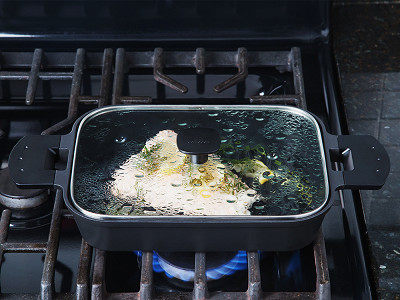Uchicook: Stovetop Steam Grill - Glass Cover