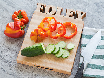Words with Boards: Small Vertical Personalized Cutting Board