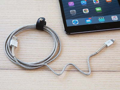 Logiix: 5 ft. Piston Steel Charging Cable