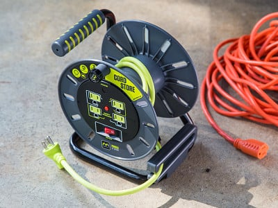 Masterplug: Extension Cord Open Storage Reel