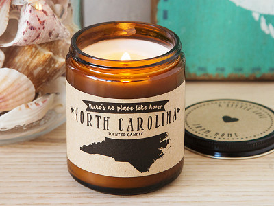 No Place Like Home Candles: State Scented Candles