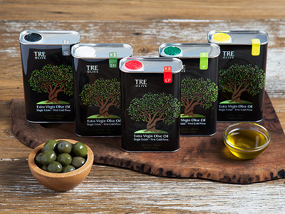 TRE Olive: Olive Oil Gift Box - Set of 5