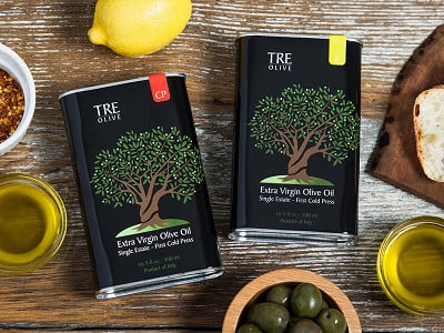 TRE Olive: Olive Oil Gift Box - Set of 2