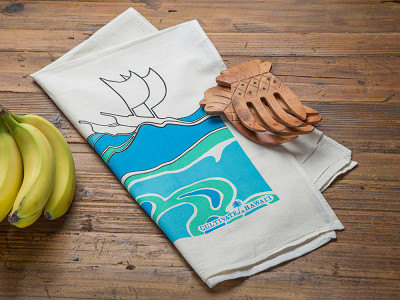 Cultivate Hawaii: Hawaiian Flour Sack Tea Towel