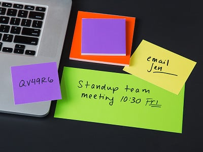 SlickyNotes: Static Charged Dry-Erase Sticky Notes