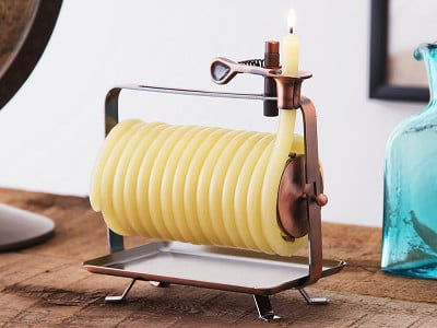 Candle by the Hour: Self-Extinguishing Coil Candle - Horizontal