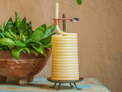 Candle by the Hour: Self-Extinguishing Coil Candle - Vertical