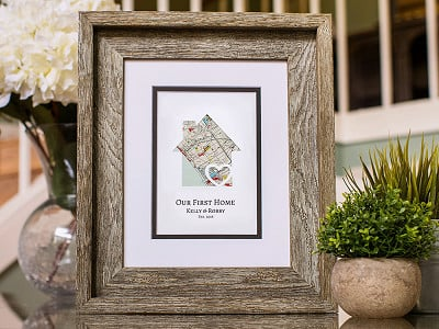 Paper'd Moments: Personalized Map Housewarming Art