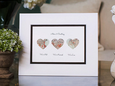 Paper'd Moments: Personalized Map Love Story Art