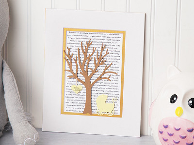 Paper'd Moments: Personalized New Baby Lullaby Art