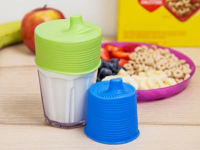 GoSili: Silicone Sippy Cup Lids - Set of 2