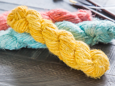Darn Good Yarn: Handspun Banana Fiber Yarn