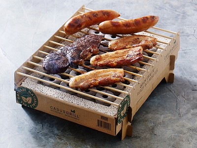CasusGrill: Instant Biodegradable Grill