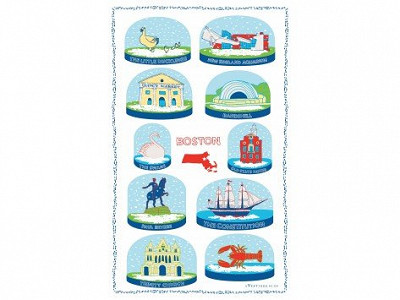 Vestiges: Snow Globe Tea Towels