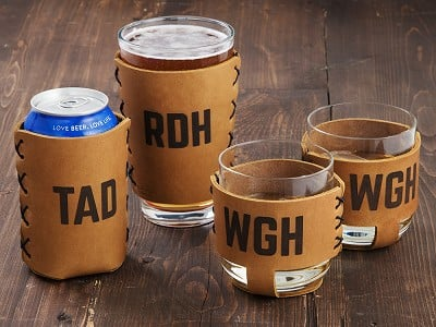 Oowee: Personalized Leather Drink Sleeves