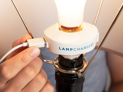 LampCharger: USB Light Bulb Charging Adapter