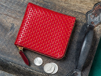 Inden Est.1582: Lacquer-Embossed Leather Coin Purse