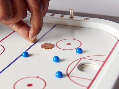 Across The Board: Wooden Tabletop Penny Hockey Game