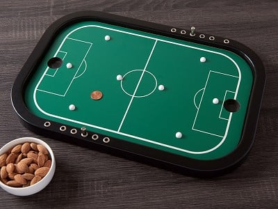 Across The Board: Wooden Tabletop Penny Soccer Game