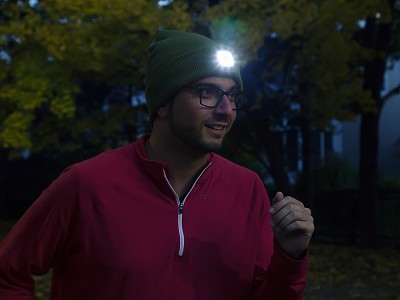 Night Scout: Men's Rechargeable LED Beanie Hat