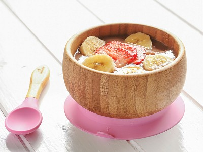 Avanchy: Bamboo Suction Baby Bowl & Spoon