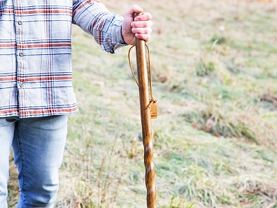 Brazos: Rustic Walking Stick