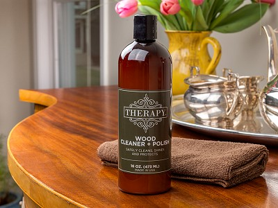 Therapy Clean: Wood Cleaner & Polish Kit