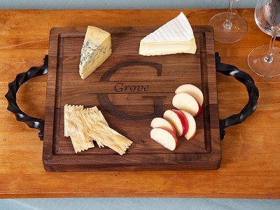Big Wood Boards: Personalized Square Serving Tray