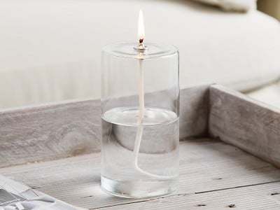 Firefly Fuel: Pillar Glass Oil Candle