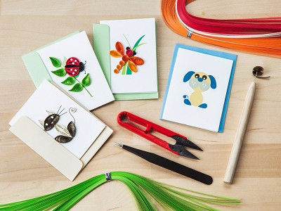 Quilling Card: Beginner Paper Quilling Card Kit