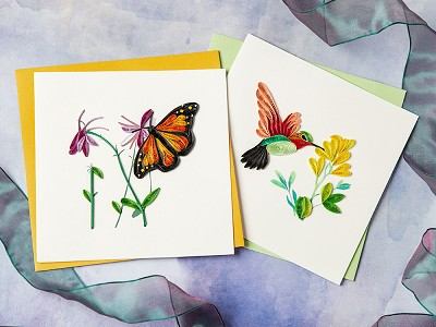 Quilling Card: Handcrafted Quilled Card - Animals & Wildlife
