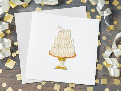 Quilling Card: Handcrafted Quilled Card - Occasion