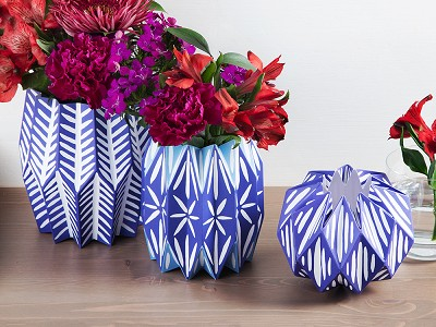 Lucy Grymes: Paper Vase Wraps - Set of 3