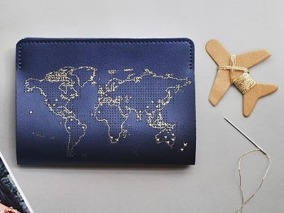 Chasing Threads: Stitch-Your-Travels Leather Passport Cover