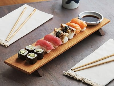 Sabbath-Day Woods: Sushi Serving Board & Soy Sauce Bowl